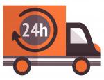 Entrega em 24h por Transportadora